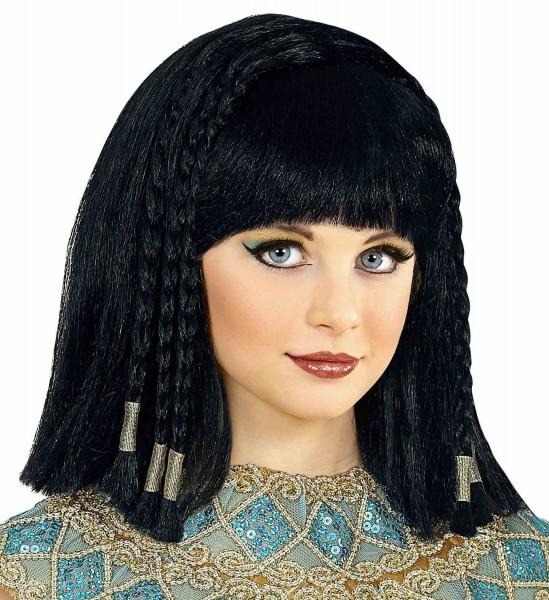 Schwarze Königin Cleopatra Perücke