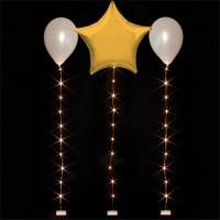Warmweiße Ballon-Lichterkette 1m