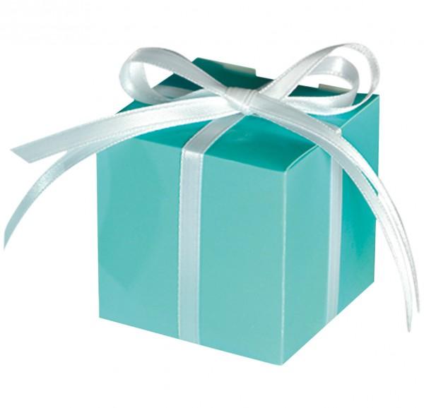 100 turkusowych pudełek prezentowych Tiffany
