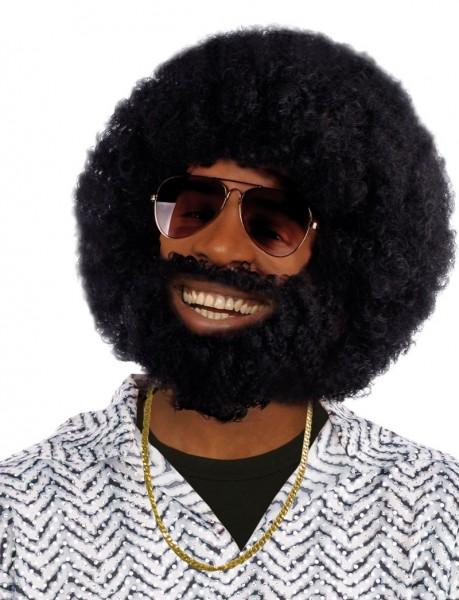 Lenny Vollbart Afro Perücke