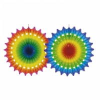 Multicolour Party Fächer 100cm