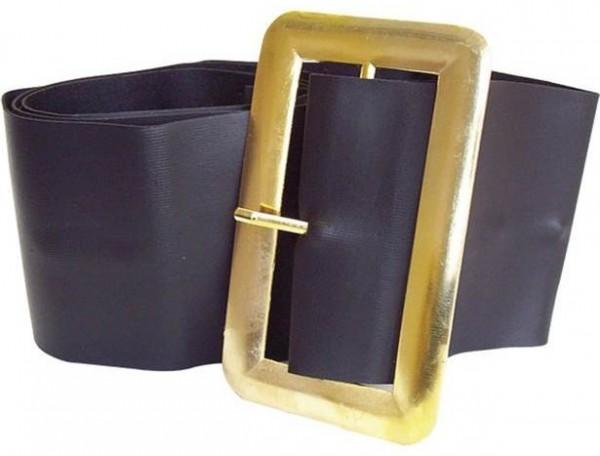 Imposanter schwarzer Gürtel mit Goldschnalle