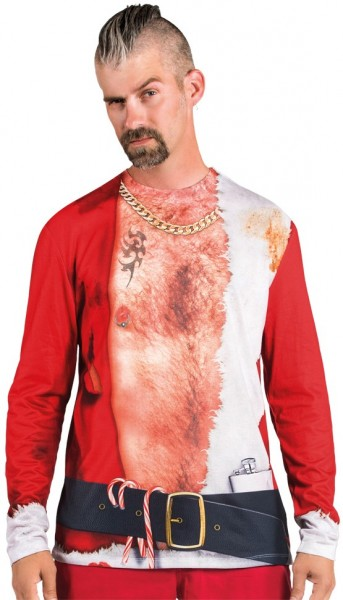 Camicia Bad Santa per uomo