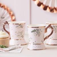 8 Birthday Teaparty Papptassen 260ml