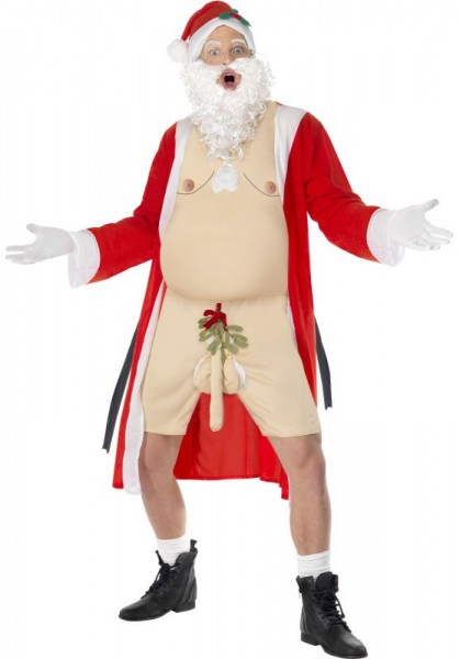 Naked Santa Claus costume