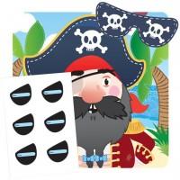 Steck dem Pirat die Augenklappe an 14-teilig