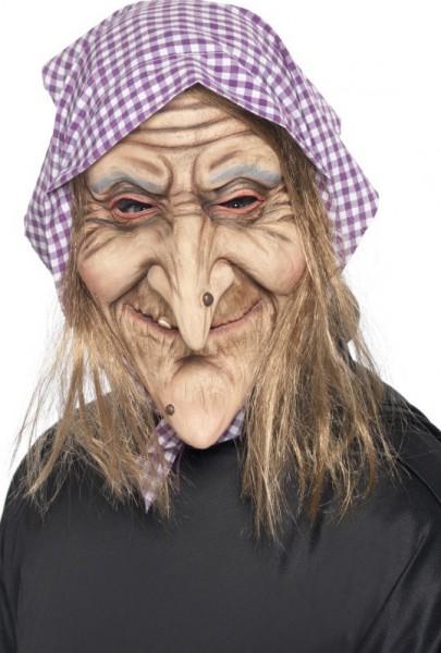 Foulard cheveux masque de sorcière effrayant