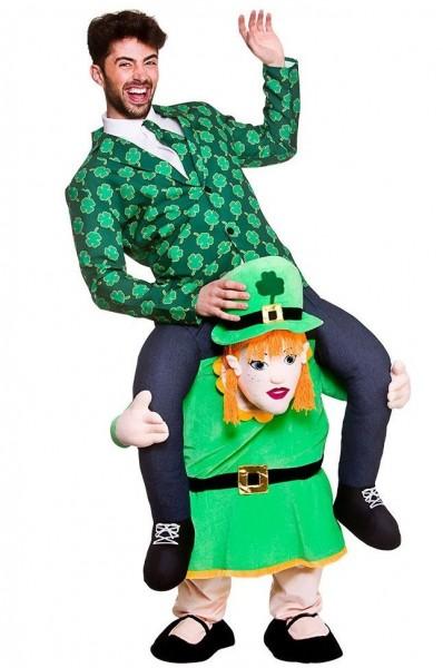 Piggyback Leprechaun-kostuum voor volwassenen