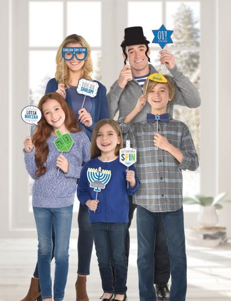 Accesorios para fotos de Happy Hanukkah 13 piezas