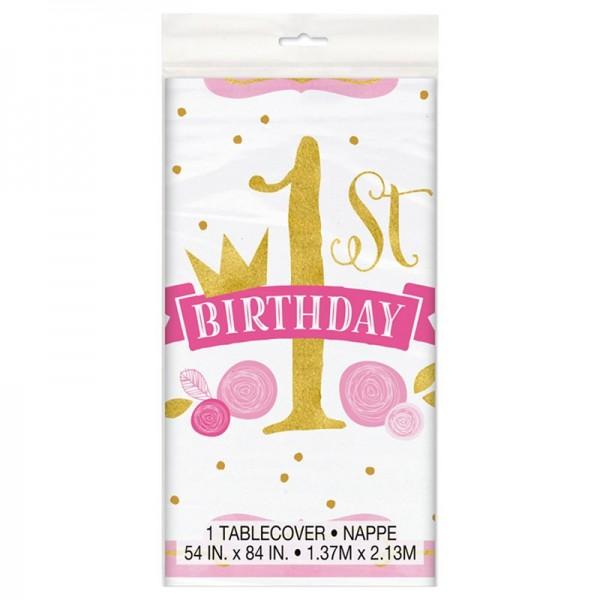 Mantel 1er cumpleaños Princesa Alicia 137 x 213 cm