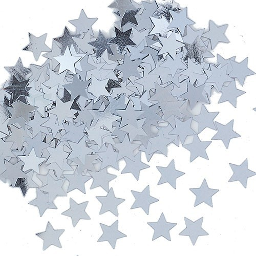 Silver Star sprinkle decoration 14g