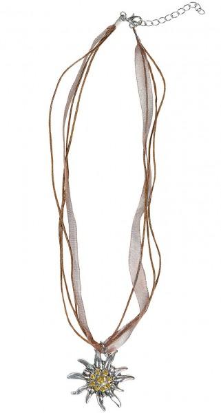 Mooie edelweiss kostuum ketting