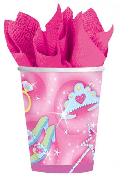 8 Fashion Queen Pappbecher Pink 266ml