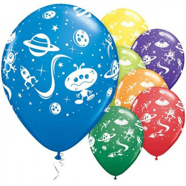 25 Weltraum Latexballons 28cm