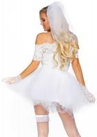 Rocker Braut Damenkostüm Deluxe