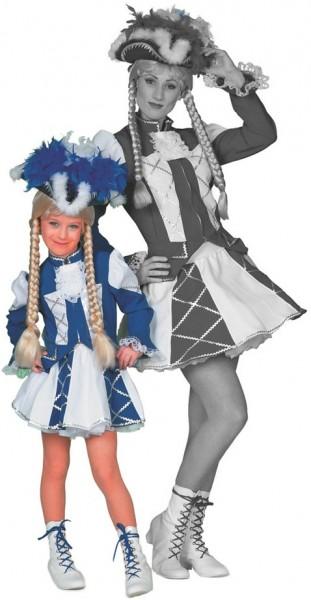 Funkenmariechen Tanzmariechen Kinderkostüm In Blau-Weiß
