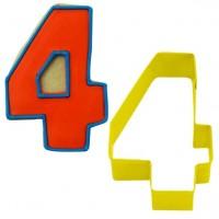 Ausstechform Zahl Vier