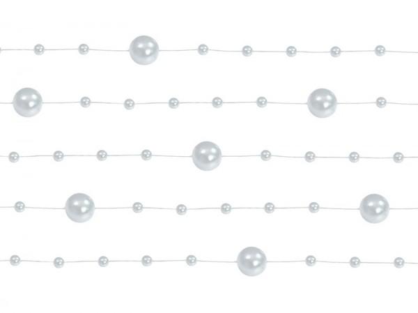 5 guirlandes de perles Sissi argent 1.3m