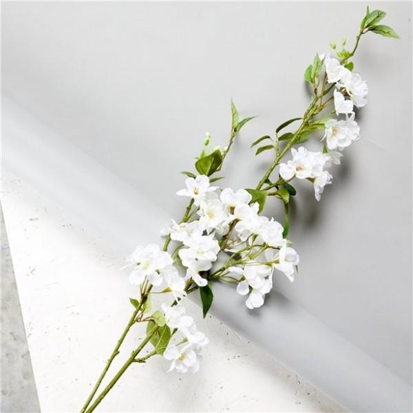 Weiße Kirschblüten Blumendeko 1,3m