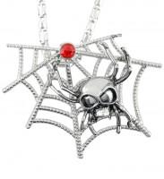 Halskette Mit Spinnennetz Und Schmuckstein