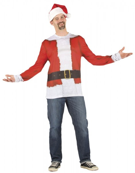 Camisa navideña de manga larga para hombre