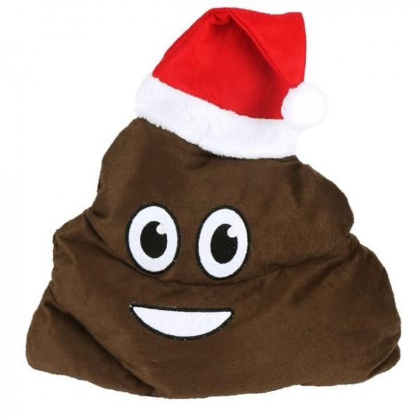 Weihnachtsmütze Happy Kackhaufen Emoji
