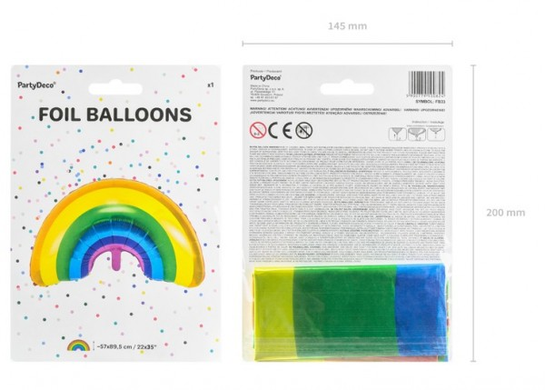 Palloncino arcobaleno in foil 73 x 45 cm