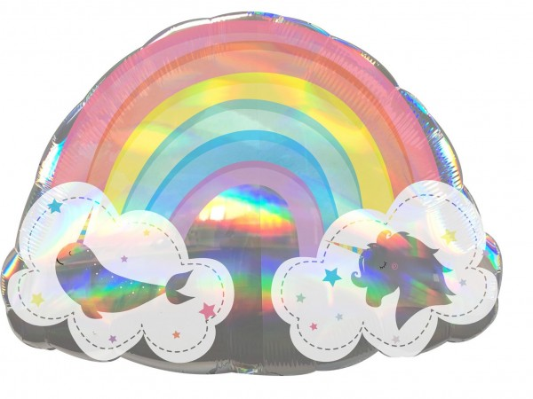 Fantasyland rainbow balloon 71 x 50cm