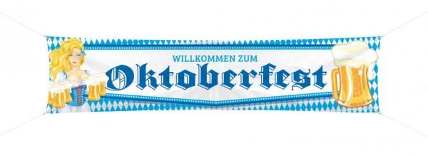 Bannière Oktoberfest bière Liesl 1,8m x 40cm