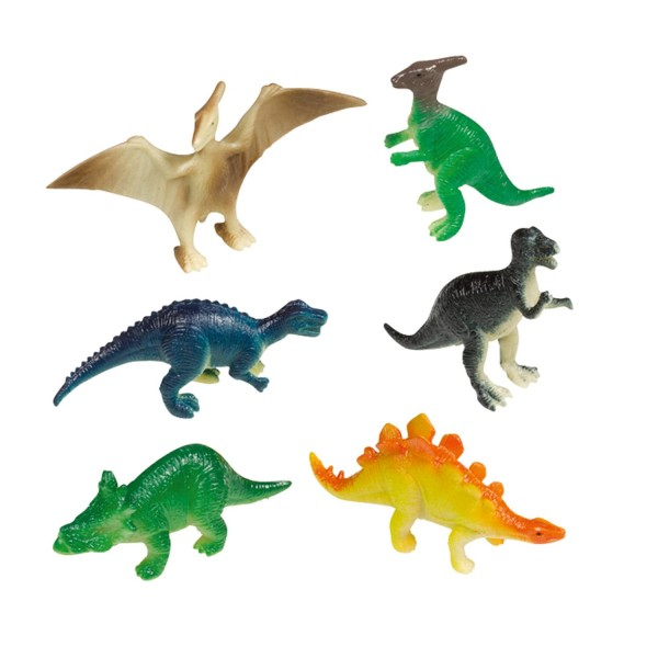 8 kleine Happy Dinosaur Figuren