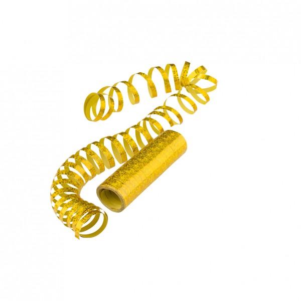 Serpentinas doradas con purpurina 4m x 7mm