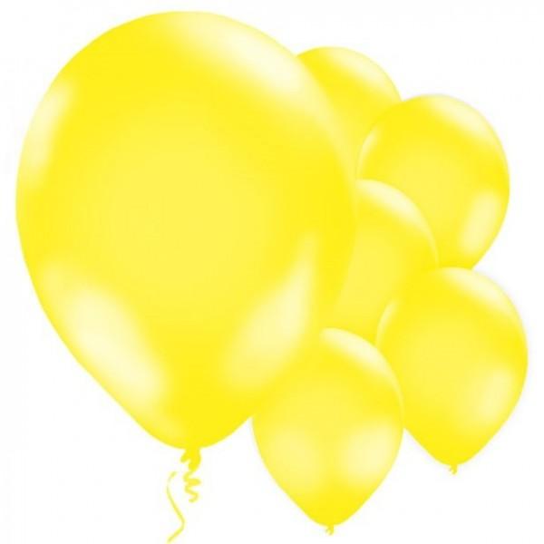 10 lemon yellow balloons Jive 28cm