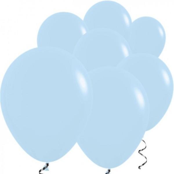 100 Babyblaue Luftballons Rumba 12,7cm
