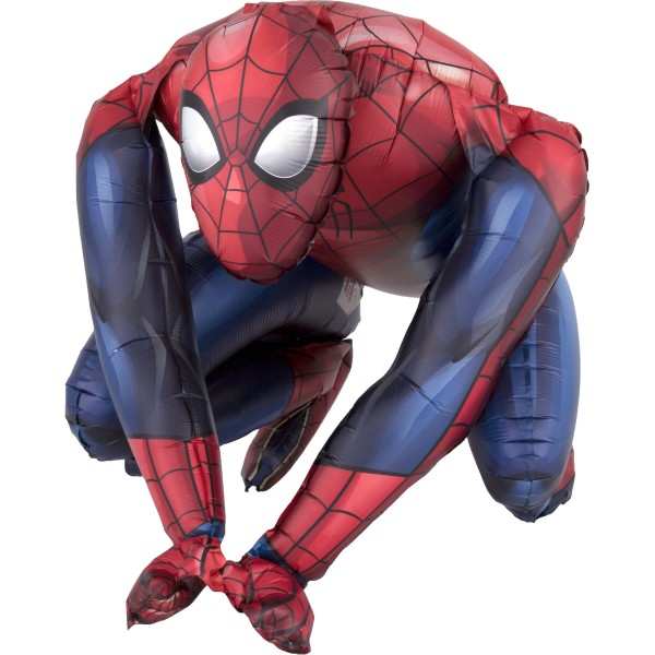 Sitzender Spiderman Folienballon