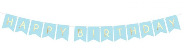 DIY Cheerful Birthday Girlande blau 1,75m