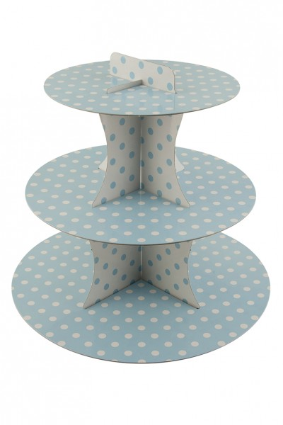 Points fun blue cupcake stand 30cm