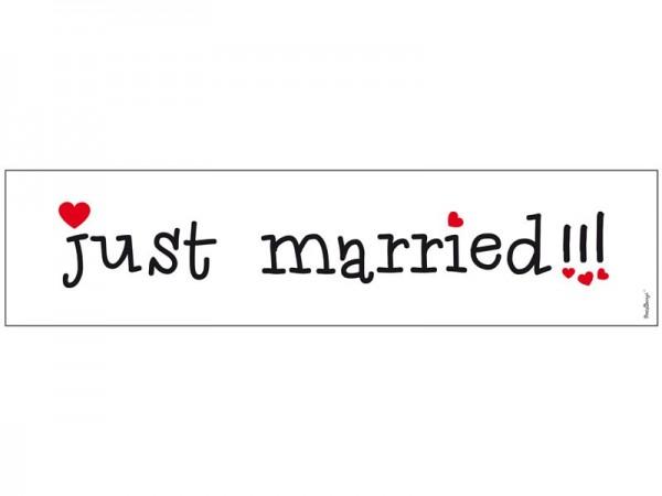 Just Married Nummernschild 11,5 x 50cm