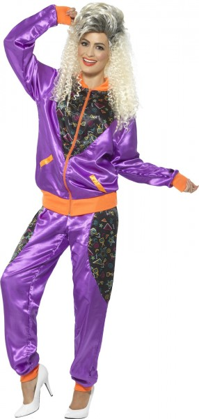 Shiny 80s women's jogging suit