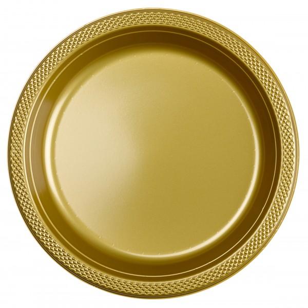 20 platos Estrella Dorada 22,8cm