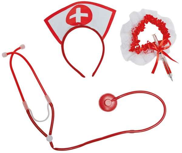 3-Teiliges Krankenschwesterkostüm Accessoires-Set