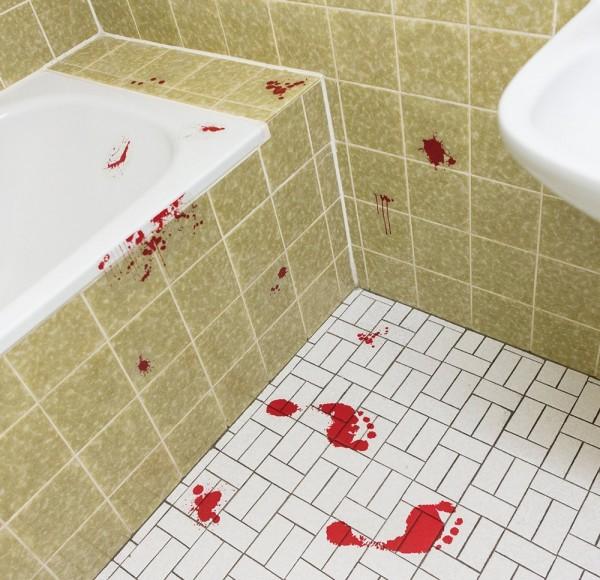 Schaurige Blutspur Aufkleber Raumdeko