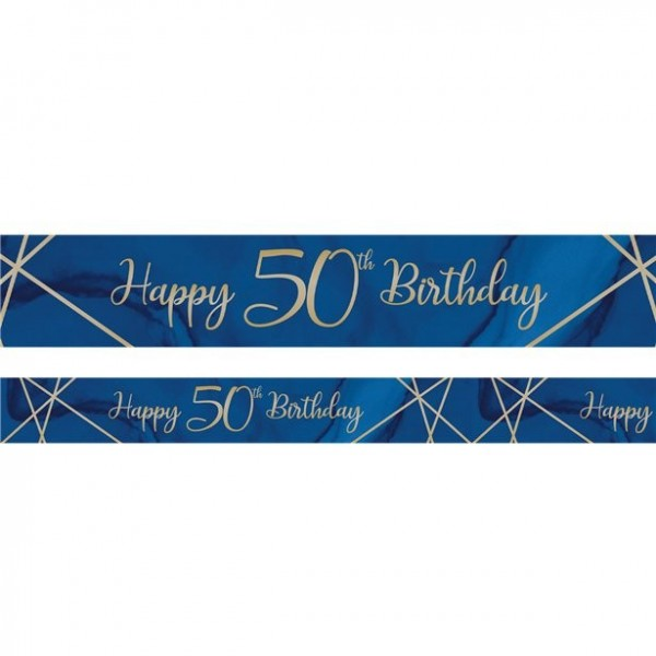 Luxurious 50th Birthday Banner 2.74m