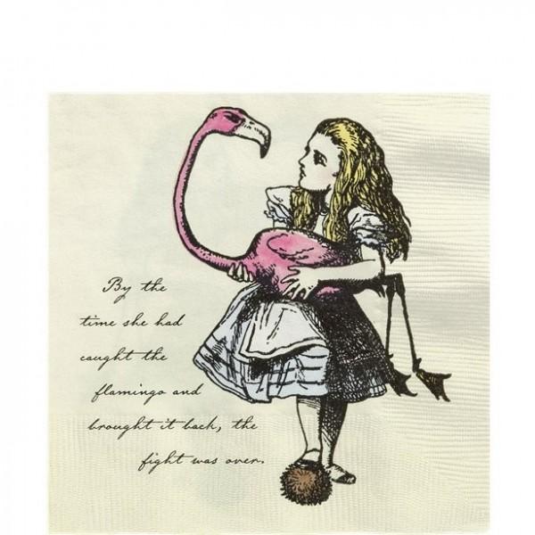 20 Alice im Wunderland Nostalgie Servietten 33cm