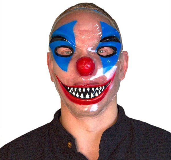 Grässliche Clowns-Maske Transparent