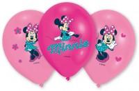 6 Pinke Minnie Mouse Luftballons 27,5cm