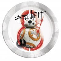 8 Star Wars Last Jedi BB-8 Pappteller 23cm