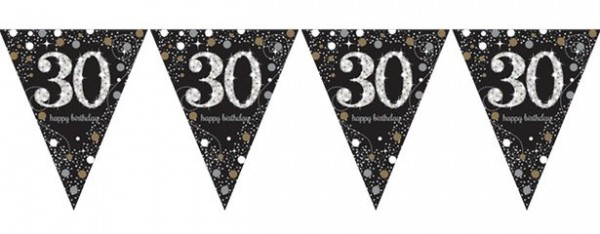 Golden 30th Birthday pennant chain 4m