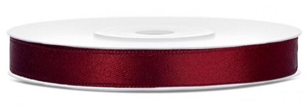 25m Satin Geschenkband burgunder 6mm breit