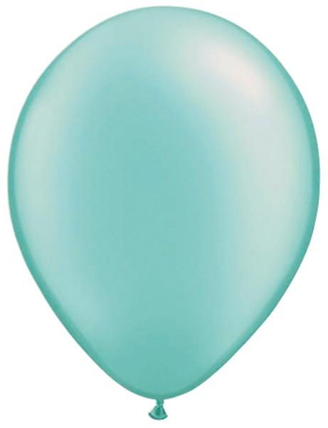 10 ballons turquoise classique 30cm