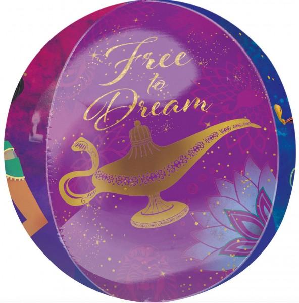 Aladdin Orbz Ballon Free to dream 38 x 40cm